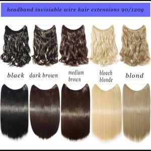 😇 Hair extension no clips Selling fast!!